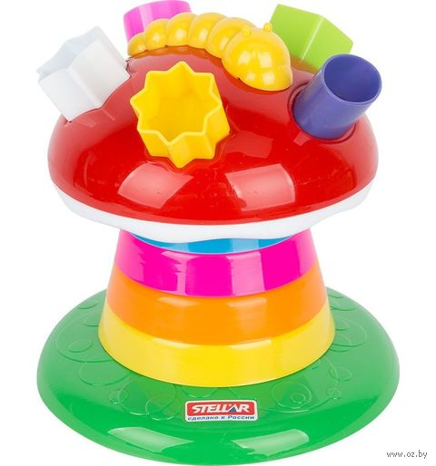 """Развивающая игрушка """"Логическая пирамидка. Гриб"""""""