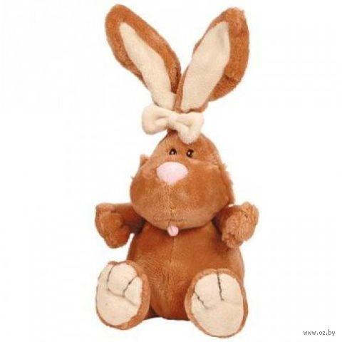 """Мягкая игрушка """"Кролик коричневый сидячий"""" (23 см) — фото, картинка"""