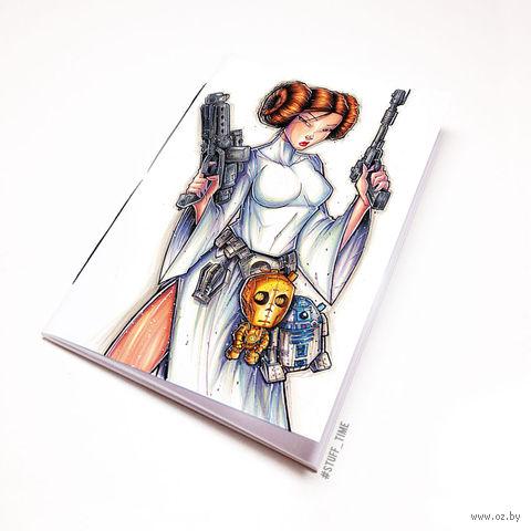 """Блокнот белый """"Звездные войны"""" А6 (916)"""