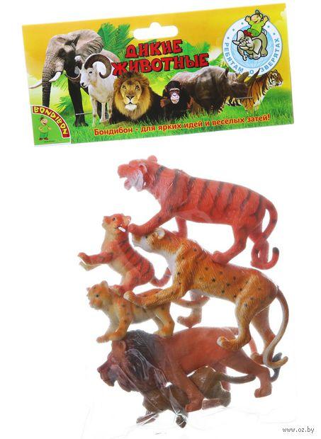 """Набор фигурок """"Дикие животные с детенышами"""" (арт. ВВ1605) — фото, картинка"""
