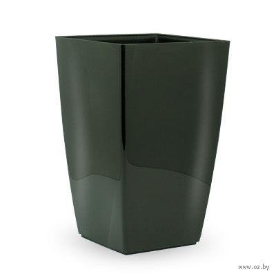 """Цветочный горшок """"Diva Square"""" (20 см; черный) — фото, картинка"""