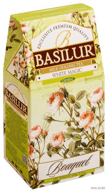 """Чай зеленый листовой """"Basilur. Белое волшебство"""" (100 г) — фото, картинка"""