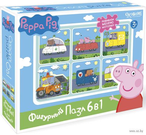 """Набор пазлов """"Свинка Пеппа. Транспорт"""" (6х3 элемента) — фото, картинка"""