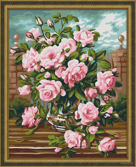 "Картина по номерам ""Розовый букет"" (400х500 мм) — фото, картинка"