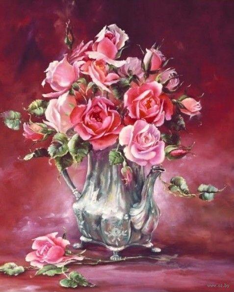 """Вышивка бисером """"Оригинальные розы"""" (230х280 мм) — фото, картинка"""