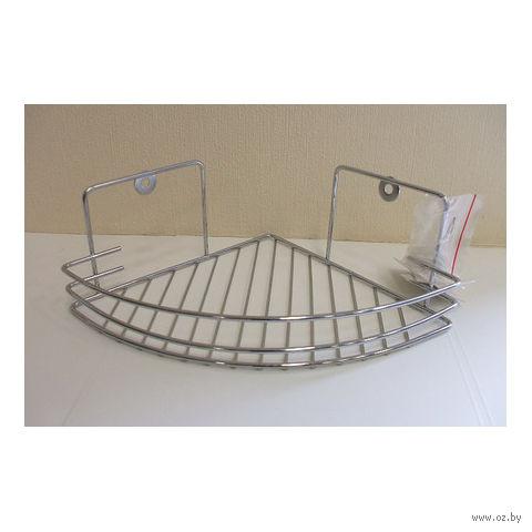 Полка для ванной угловая металлическая (84х189х261 мм)