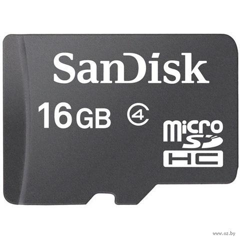 Карта памяти micro SDHC 16Gb SanDisk Class 4 (без адаптера)