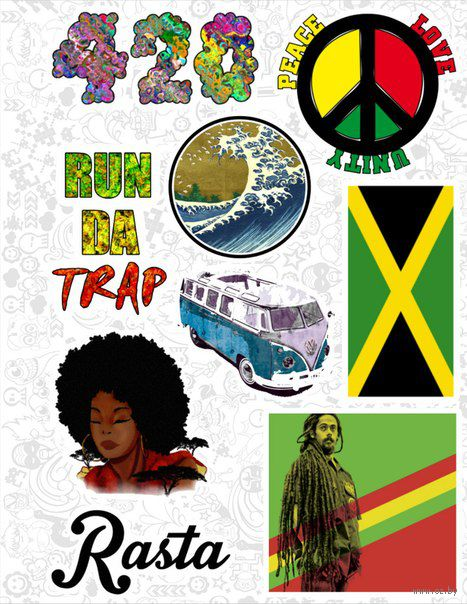 "Набор виниловых наклеек №36 ""Reggae"""