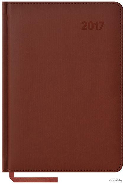 """Ежедневник датированный """"Vivella"""", 2017 (А5; 176 листов; коричневый)"""