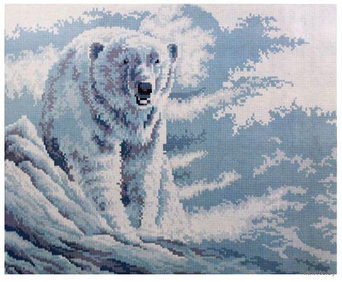 """Алмазная вышивка-мозаика """"Белый мишка"""" (400x500 мм) — фото, картинка"""