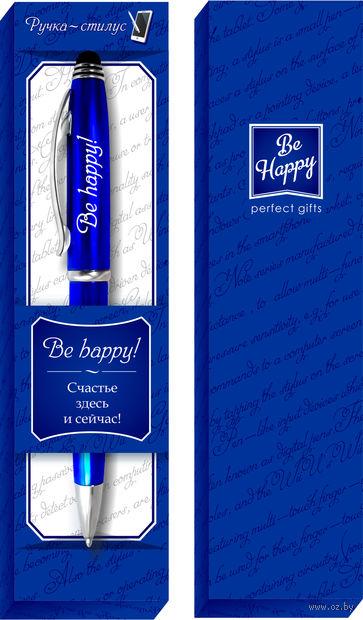 """Ручка шариковая со стилусом """"Be happy!"""""""