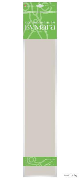 """Бумага креповая """"Пастельные цвета"""" (50х250 см; серебристо-серая) — фото, картинка"""