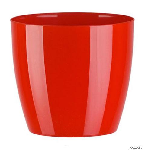 """Цветочный горшок """"Ага"""" (20 см; красный) — фото, картинка"""