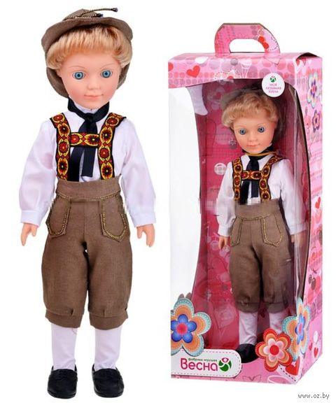 "Кукла ""Александр в баварском костюме"" (42,5 см; арт. В3128) — фото, картинка"
