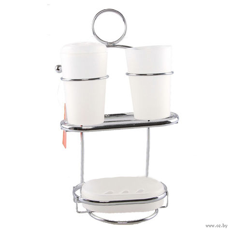 Набор для ванной (4 предмета; 18,5х13х31,2 см)
