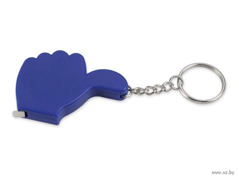 Брелок-рулетка в виде руки (синий, 1 метр)