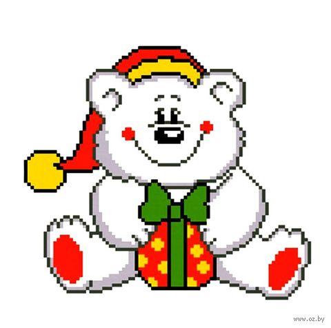 """Вышивка крестом """"Белый медведь"""""""
