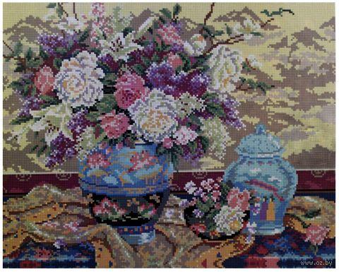 """Алмазная вышивка-мозаика """"Натюрморт с цветами"""" (400x500 мм) — фото, картинка"""
