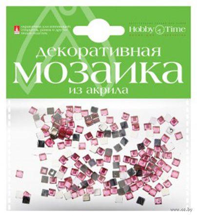 Мозаика декоративная из акрила №8 (4х4 мм; 200 шт.; розовый) — фото, картинка