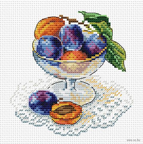 "Вышивка крестом ""Вкус ягод"" (150х150 мм) — фото, картинка"
