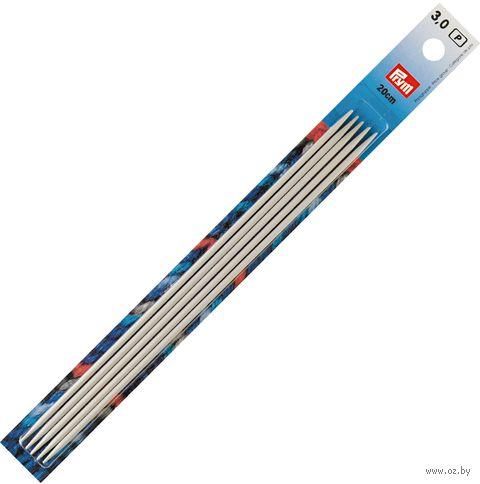 Спицы чулочные для вязания (алюминий; 3 мм; 20 см) — фото, картинка