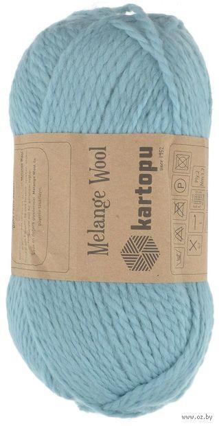 "Пряжа ""KARTOPU. Melange Wool №K5017"" (100 г; 170 м; голубой) — фото, картинка"