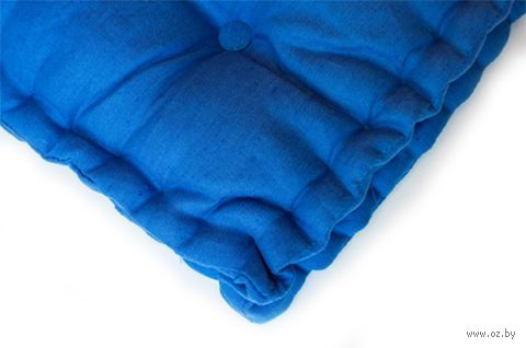"Подушка на стул ""3D"" (45х45 см; голубая) — фото, картинка"