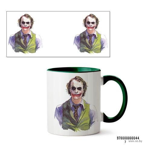 """Кружка """"Джокер из вселенной DC"""" (зеленая; арт. 0044) — фото, картинка"""