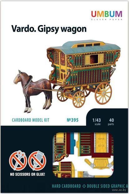 """Сборная модель из картона """"Цыганское вардо"""" (масштаб: 1/43) — фото, картинка"""