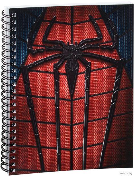 """Блокнот в клетку """"Человек-паук"""" (A5; арт. 355)"""