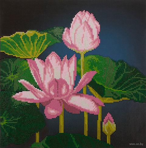 """Алмазная вышивка-мозаика """"Цветущие лотосы"""" (317x326 мм) — фото, картинка"""