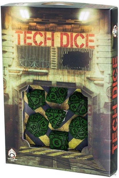 """Набор кубиков """"Tech"""" (7 шт.; черно-зеленый) — фото, картинка"""