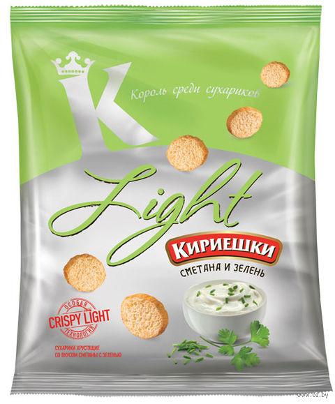 "Сухарики ""Light"" (33 г; сметана и зелень) — фото, картинка"
