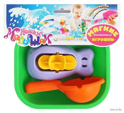 """Набор игрушек для купания """"Ванночка, кит и ковшик"""" (3 шт.) — фото, картинка"""