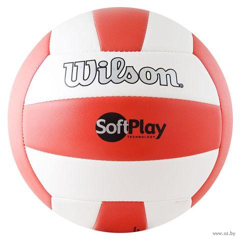 """Мяч волейбольный Wilson """"Soft Play"""" №5 (красно-белый) — фото, картинка"""