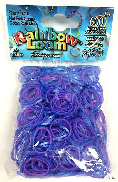 """Набор резиночек для плетения """"Rainbow Loom. Перламутр. Розово-голубые"""""""