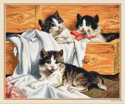 """Вышивка крестом """"Котята"""""""