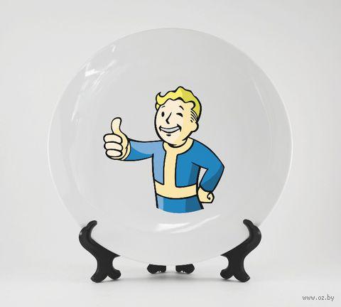 """Тарелка """"Fallout"""" (арт. 491)"""