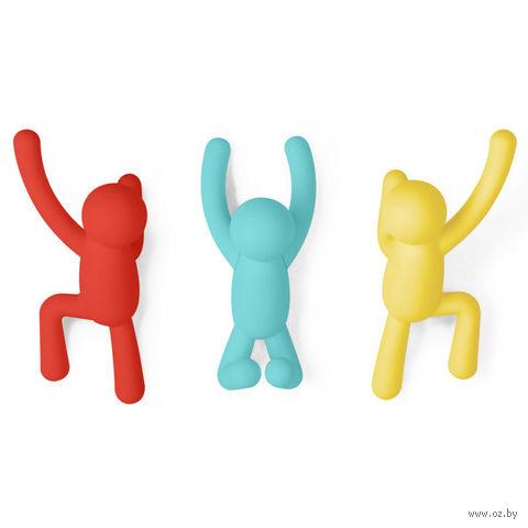 """Вешалки-крючки """"Buddy"""" (3 шт., разноцветные)"""