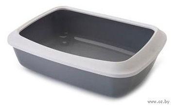 "Туалет для кошек ""Isis 42"" со съемным ободом (42х31х12,5 см; серый) — фото, картинка"