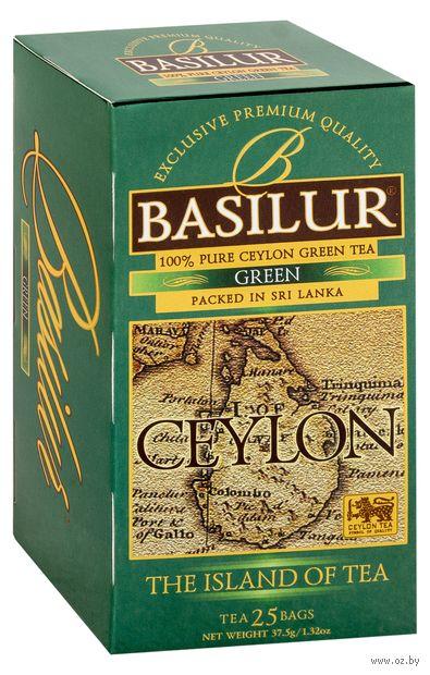 """Чай зеленый """"Basilur. Green"""" (25 пакетиков) — фото, картинка"""