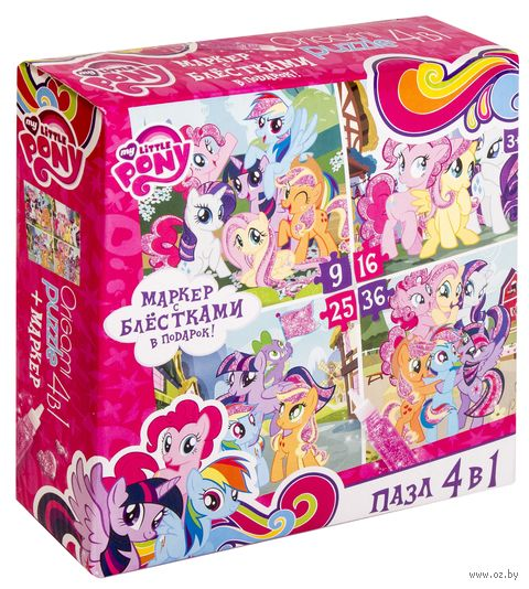 """Набор пазлов """"My Little Pony. Магия дружбы"""" (9+16+25+36 элементов) — фото, картинка"""