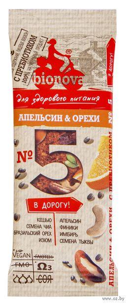 "Батончик ""Bionova. Апельсин и орехи"" (35 г) — фото, картинка"