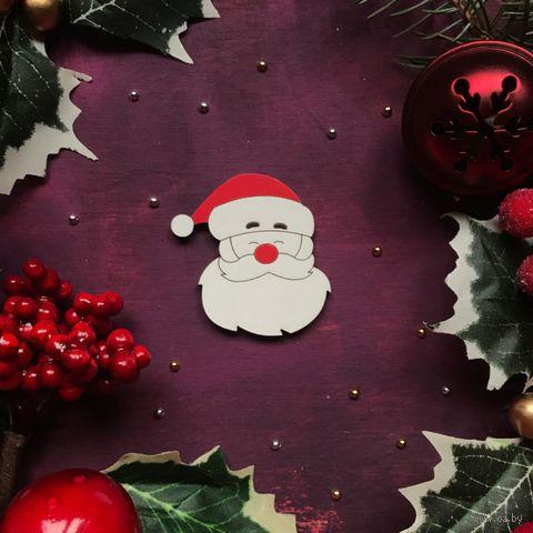 "Значок ""Дед Мороз. Голова"" (арт. 309) — фото, картинка"