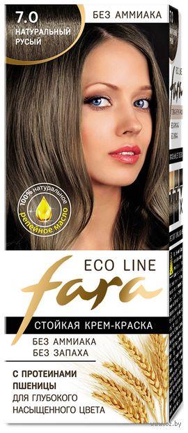 """Крем-краска для волос """"Fara. Eco Line"""" тон: 7.0, натуральный русый — фото, картинка"""