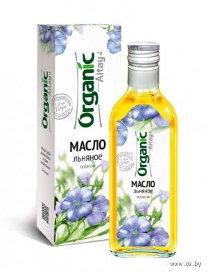 "Масло льняное ""Organic Altay"" (250 мл) — фото, картинка"