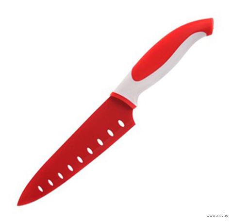 """Нож металлический с антибактериальным покрытием с пластмассовой ручкой """"Symbio"""" (19/31 см)"""