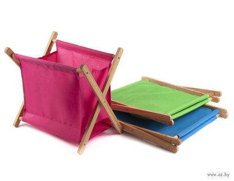 Корзина текстильная на деревянном каркасе (20,5х26,5 см)