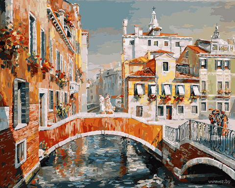 """Картина по номерам """"Венеция. Кампьелло Кверини Стампалья"""" (400х500 мм)"""