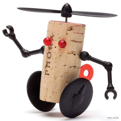 "Декор для винной пробки ""Robots"" (Вилли)"